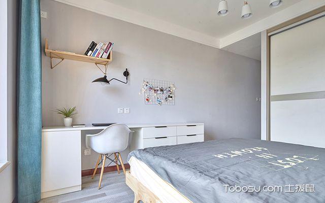 扬州80平米简约两居装修效果图卧室空间