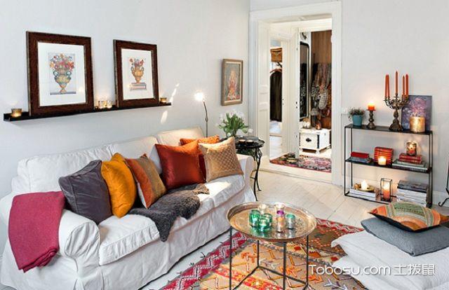60平米法式小户型装修风格之客厅