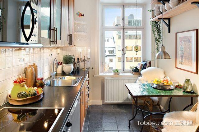 60平米法式小户型装修风格之厨房