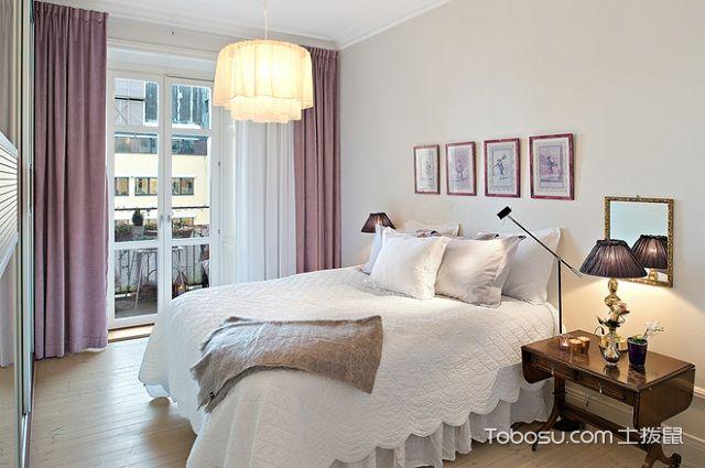 60平米法式小户型装修风格之卧室
