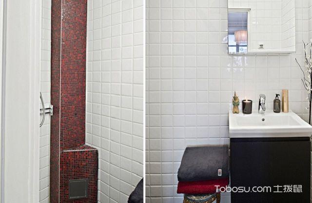 60平米法式小户型装修风格之卫生间