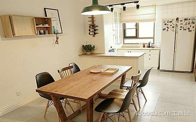 北欧大户型实木餐桌效果图 灵活