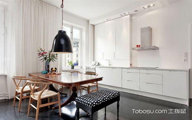 北欧大户型实木餐桌效果图 干净
