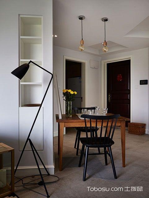 北欧大户型实木餐桌效果图 简单