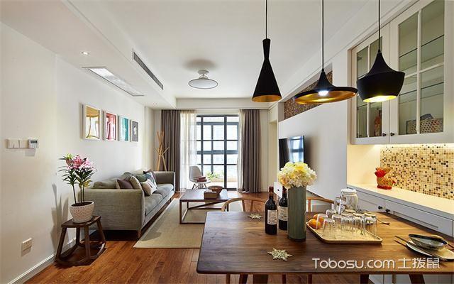 宁波106平两室一厅北欧装修效果图之吊灯