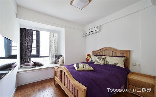 宁波106平两室一厅北欧装修效果图之次卧