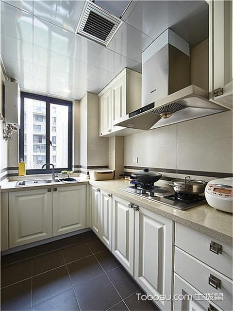 宁波106平两室一厅北欧装修效果图之厨房