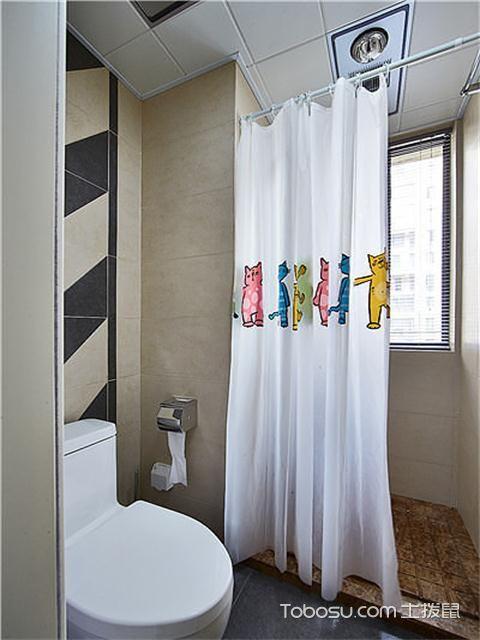 宁波106平两室一厅北欧装修效果图之卫生间