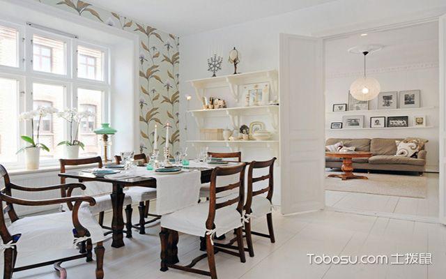 北欧大户型实木餐桌效果图 时尚