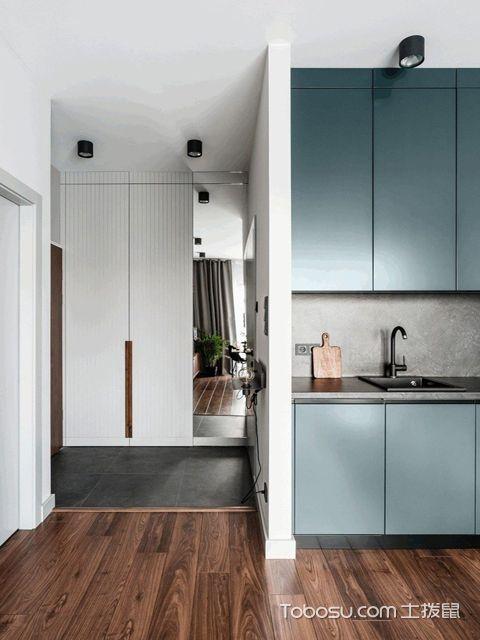 长沙60平米现代风格小户型公寓 玄关