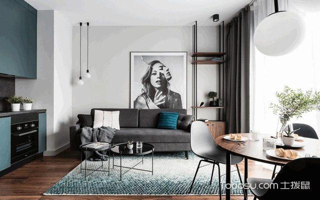 长沙60平米现代风格小户型公寓 客厅