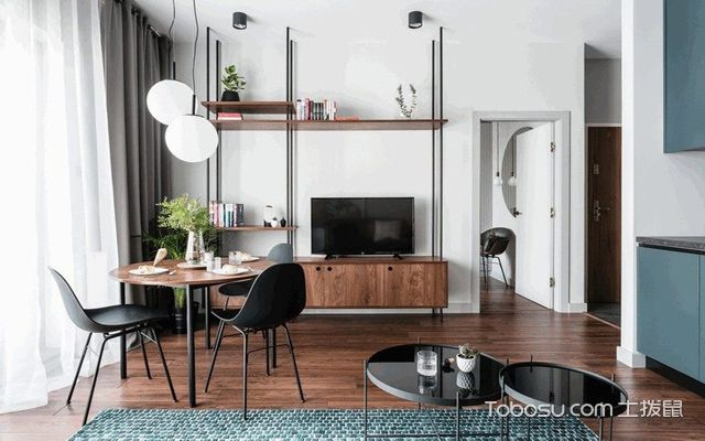 长沙60平米现代风格小户型公寓 餐厅