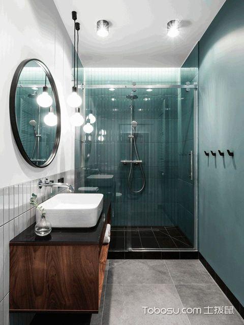 长沙60平米现代风格小户型公寓 卫生间