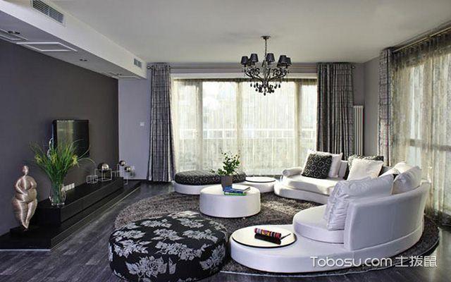 2017大户型客厅布艺沙发摆放效果图 欧式