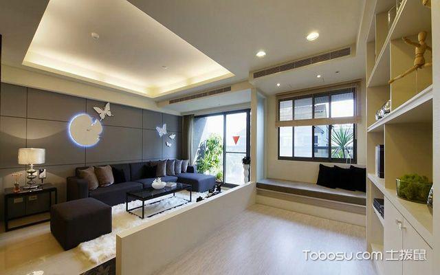 2017大户型客厅布艺沙发摆放效果图 美式