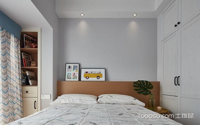 成都80平三房两厅装修之卧室
