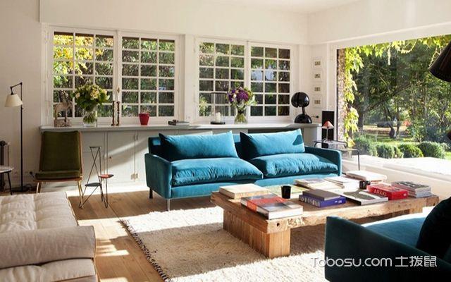 2017大户型客厅布艺沙发摆放效果图 北欧