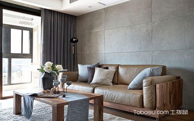 什么是水泥风格 沙发墙