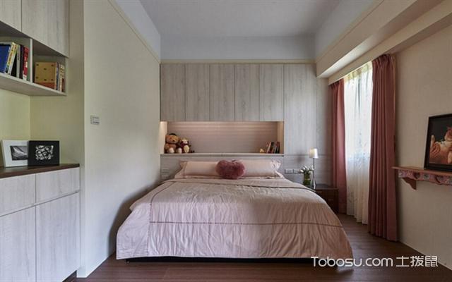 82平米2室1厅简约装修设计图之卧室