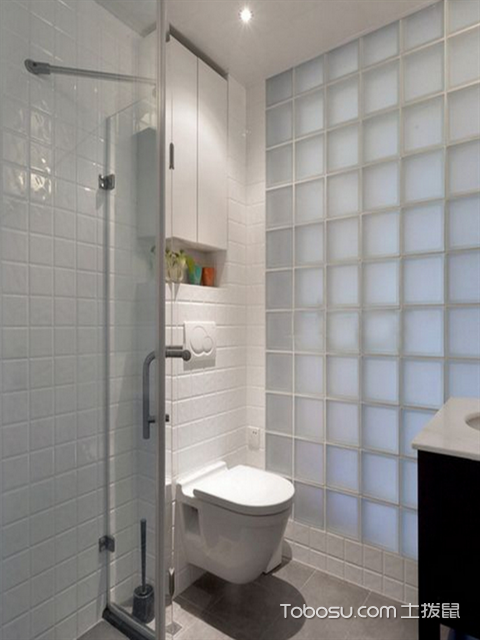 82平米2室1厅简约装修设计图之卫生间