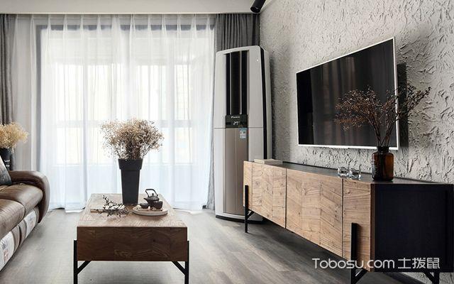 宁波95平文艺北欧风格装修案例客厅