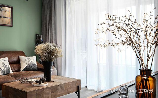 宁波95平文艺北欧风格装修案例客厅设计