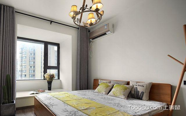 宁波95平文艺北欧风格装修案例卧室