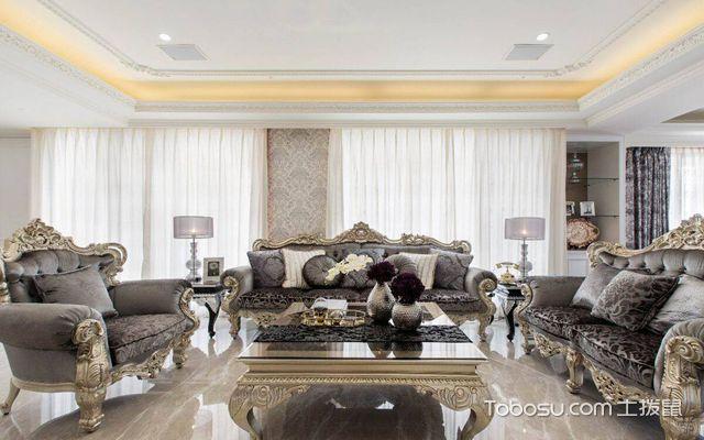 套248平米欧式大平层装修效果图 客厅