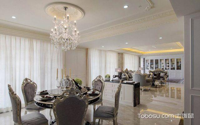 套248平米欧式大平层装修效果图 餐厅