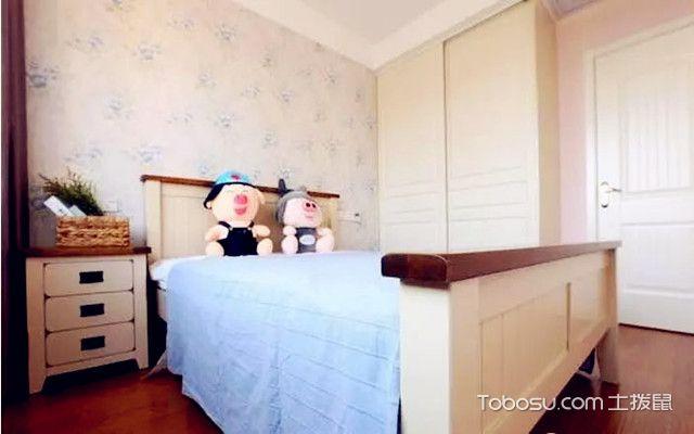 88平田园风格装修图儿童房