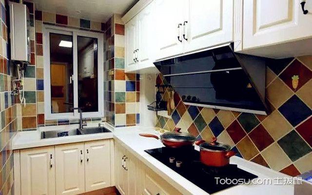 88平田园风格装修图厨房