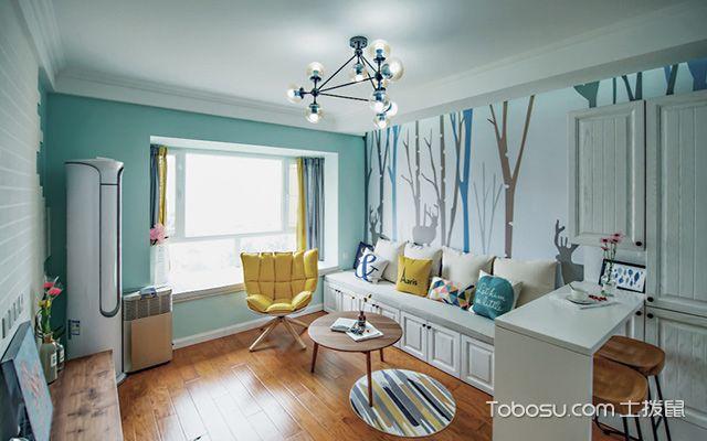 南京三房两厅半包装修费用小户型客厅
