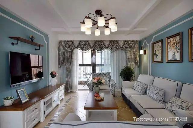 180平三室一厅装修客厅