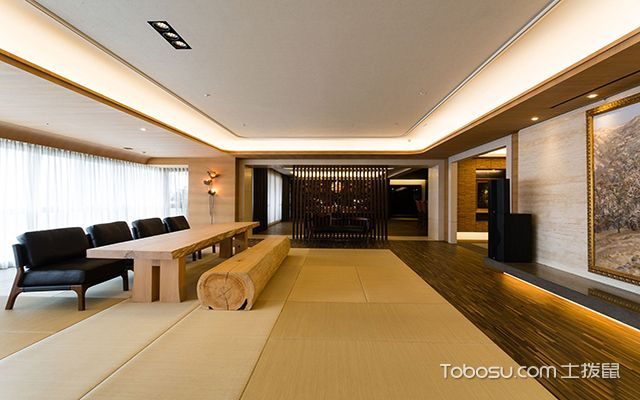 沈阳220平米大平层装修效果图 客厅