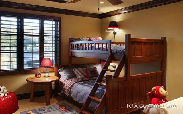 2017最新小户型儿童房实用上下床 美式风