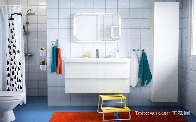 最新小户型卫生间浴帘效果图 清爽