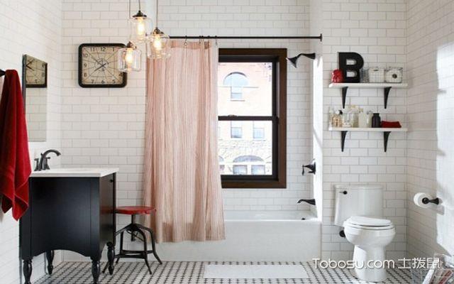 最新小户型卫生间浴帘效果图 优雅