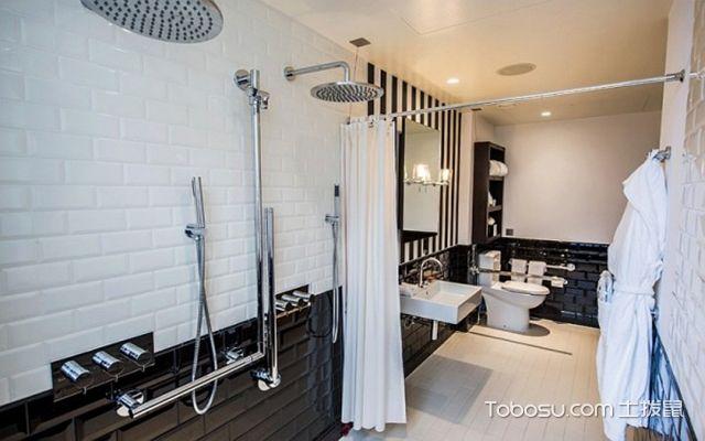 最新小户型卫生间浴帘效果图 整齐