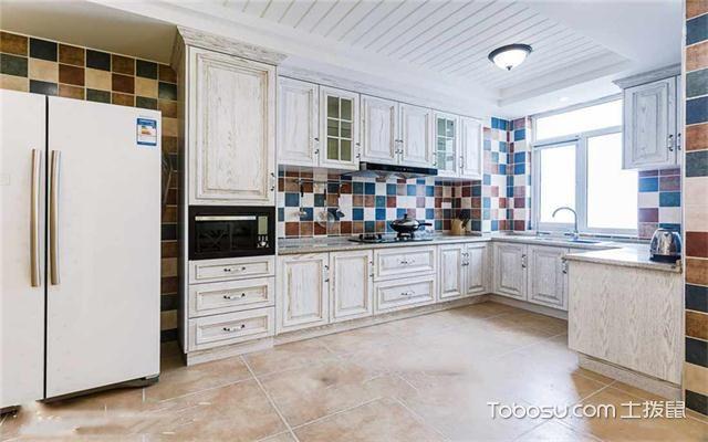 120平米地中海风格三居婚房装修之厨房
