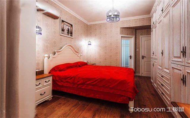 120平米地中海风格三居婚房装修之卧室