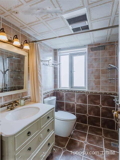 120平米地中海风格三居婚房装修之卫生间
