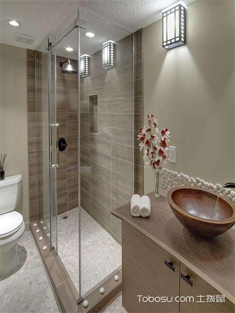 小户型浴室灯装修效果图之壁灯
