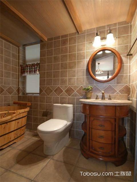 小户型浴室灯装修效果图之吊灯