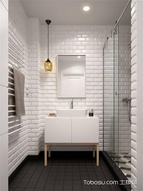 小户型浴室灯装修效果图之射灯