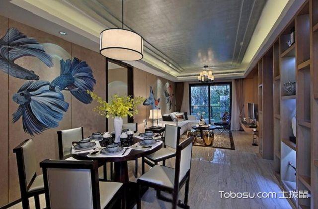 大户型中式家庭餐厅风水与禁忌之颜色
