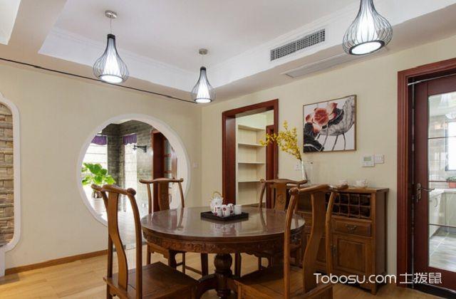 大户型中式家庭餐厅风水与禁忌之餐桌