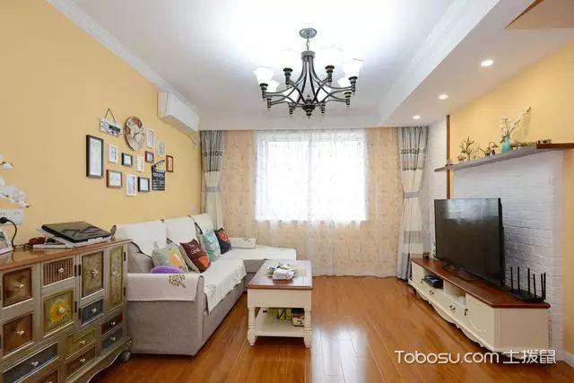 82平两室一厅装修图客厅