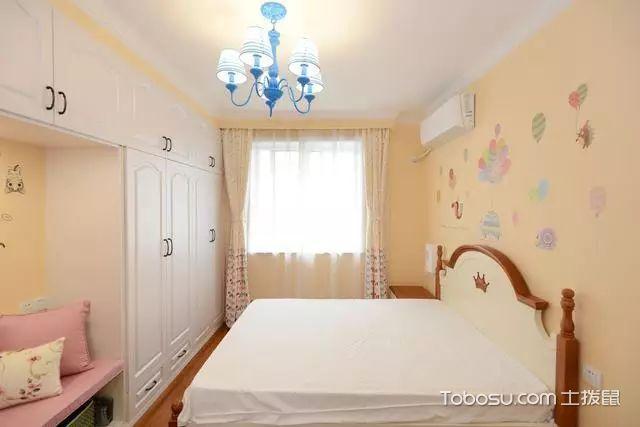 82平两室一厅装修图次卧