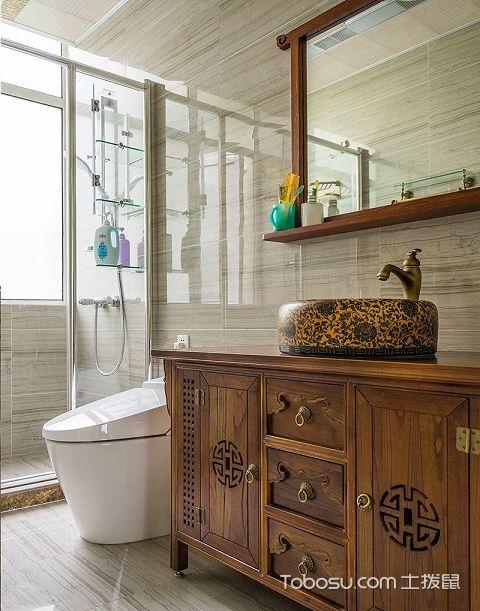 2017大户型主卫浴室装修效果图之材质
