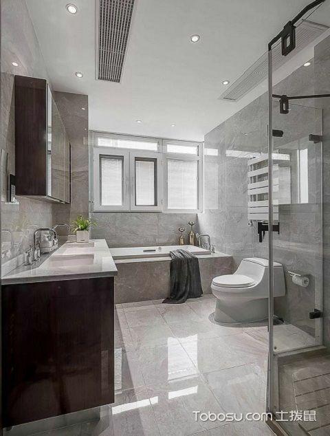 2017大户型主卫浴室装修效果图之浴缸